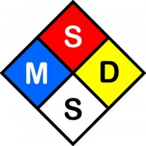 MSDS Label 300x300